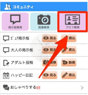 ハッピーメール プロフィール検索